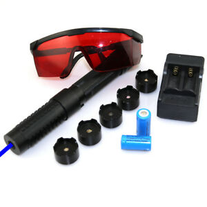 2w Bw6 450nm Adjustable Focus Blue Laser Pointer Light Cigarettes Burn Matches