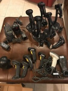 6 Hp Ls2208 Usb Barcode Scanner 3 Symbol Scanners Plus 7 Untested Scanners