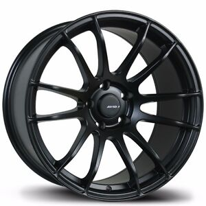 Avid1 Av20 18x9 5 38 5x114 3 Full Matte Black Concave Sonata Camry Accord Civic