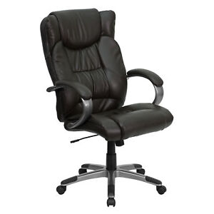 Flash Furniture Brown Leather Executive Swivel Office Chair Bt 9088 brn gg