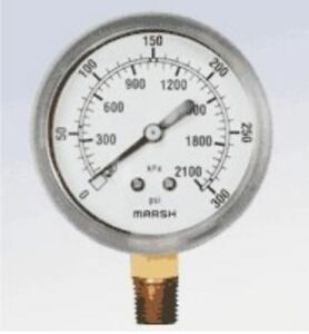 Marsh Air Pressure Gauges 0 300 Psi 4 Ea 1 4 Npt Free Shipping