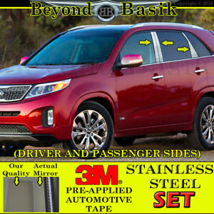 For 2011 2015 Kia Sorento 6pc Chrome Stainless Steel Pillar Posts Trims Overlay