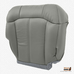 2001 2002 Gmc Sierra 2500 2500hd Passenger Bottom Synthetic Leather Cover Gray