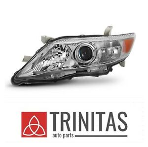New Lh 2010 2011 Toyota Camry Crystal Chrome Headlight Headlamp Left Driver Side