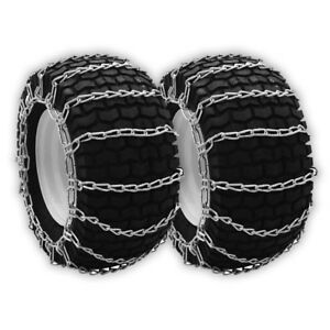 Set Of Two Tire Chains Fit Tire Size 22x8x12 22x9 50x12