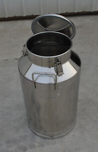 15 8gallon Stainless Steel Milk Pail Farm Water Milk Wine Bucket Lid Storage New