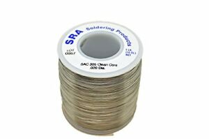 Sra Soldering Products Wbncsac20 Lead Free No clean Flux Core Silver Solder S