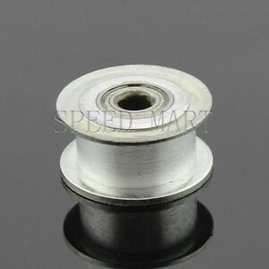Smooth Idler Pulley With Bore 8mm Bearing For Wide 11mm Xl Mxl Htd3m Timing Belt