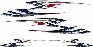 Usa Flag Racing Boat Car Truck Graphic Decals Vinyl Stickers Wrap 2 50 2 24