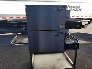 Lincoln Impinger Conveyorized Gas Ovens Double Stack Pizza Conveyor Ovens