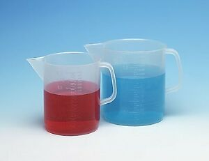 Cole parmer Low form Polypropylene Beakers With Handle And Pour Spout 500 Ml