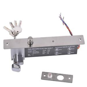 High Quality Dc12v Fail Secure No Mode Electric Bolt Lock With Key