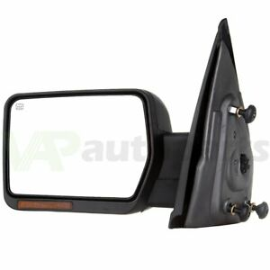 2007 2014 Ford F150 Power Heated Led Signal Puddle Driver Side View Mirror Left