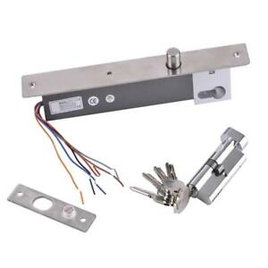 Rustproof Metal Dc12v Fail Secure No Mode Electric Bolt Lock With Key