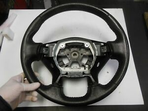 2007 2011 Nissan Altima Steering Wheel Black Leather Wrap