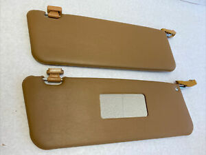 Pair Of New Sun Visors Fits Mercedes Sl W107 Palomino With Mirror