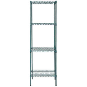 Heavy Duty 18 X 24 X 74 Green Epoxy Wire Walk In Cooler Shelf Rack Commercial