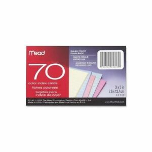 Mead Double Ruled Index Card