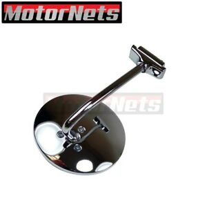4 1 2 Chrome Round Long Arm Stainless Peep Mirror Door Side View Hot Ratrod Sbc