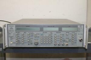 Wiltron 6717b 20 Swept Frequency Synthesizer 10mhz 8 4ghz for Parts Or Repair