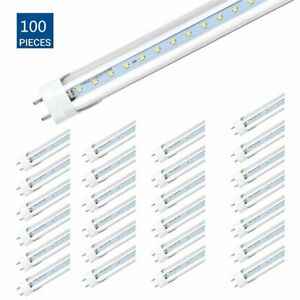50pcs Led Tube Light clear Cover t8 6000k 4ft 48 Inches 20w Cool White Us Ma
