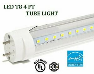 G13 4ft 20w 3000k Clear T8 48 Led Tube Fluorescent Replacement Bulb 2400 Lm Ma