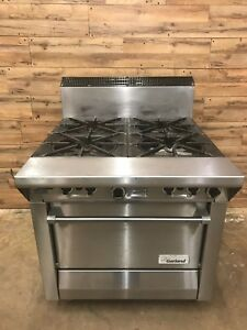 2012 Garland M44r Master Series Nat Gas 4 Burner 34 Range With Standard Oven