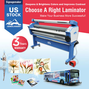110v 63 Full auto Low Temp Wide Format Cold Laminator With Heat Assisted stand