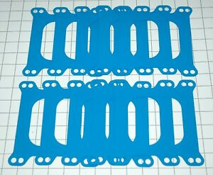 10 Blue Non Stick Edelbrock Carter 4 Barrel Carburetor Open Plenum Gaskets