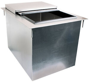 Glastender Stainless Steel Drop in Ice Bin 14