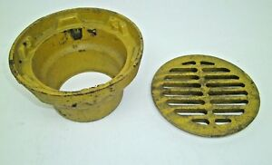 Nos Jr Smith Cast Iron Floor Drain W 8 1 2 Round Tops Bar Grate Kb