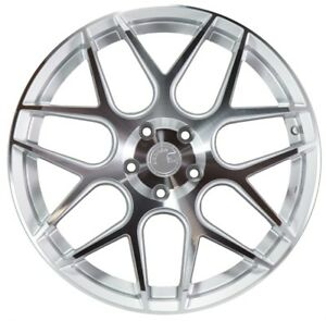 19x8 5 Aodhan Ls002 5x120 Et35 Silver Machined Face Wheels Set Of 4