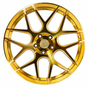 19x8 5 Aodhan Ls002 5x120 Et35 Gold Machined Face Wheels Set Of 4