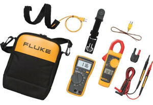 New Fluke 116 323 Kit Hvac Multimeter And Clamp Meter Combo Kit