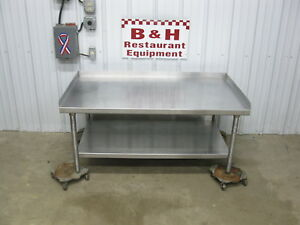 54 X 30 Stainless Steel Heavy Duty Equipment Griddle Stand Table 4 6