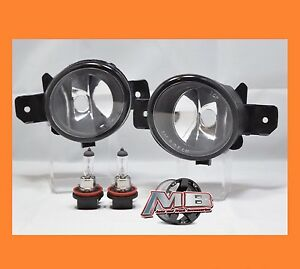 Clear Fog Light Lamps Fits For Nissan Infiniti Pair With H11 Bulbs