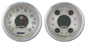 Classic Instruments All American Nickel Series 2 Gauge Set An52slc Speedo Quad