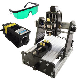 Diy Mini 3 Axis Cnc Router Wood Pcb Milling Engraving Machine 500mw Laser Module