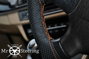 Perforated Leather Steering Wheel Cover For Mercedes W169 05 12 Orange Double St