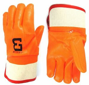 Better Grip Orange Pvc Glove Safety Cuff For Garbage Pick Up And Oil bg105org