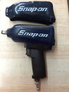 Navy Blue Snap On Mg725 1 2 Drive Air Powered Impact Wrench W Silicone Cover