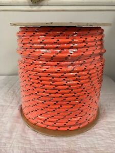 Double Braid Polyester 1 2 x600 Ft Arborist Rigging Tree Rope Bull Rope Orange