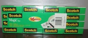 Scotch Magic Tape 3 4 X 1000 Inches 16 Rolls 810k16 2c