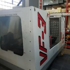 Used Haas Vf 3 Cnc Vertical Machining Center Mill Bt40 40x20 Vmc Gearbox 1996