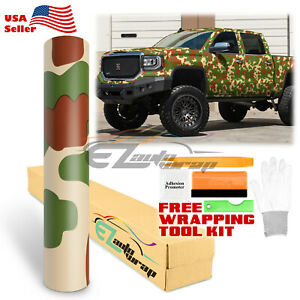 36 X60 Woodland Camouflage Camo Car Vinyl Wrap Sticker Decal Film Air Release