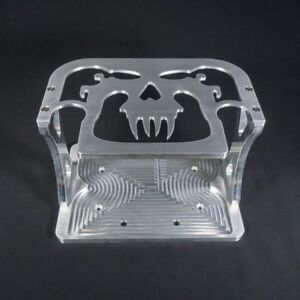 Battery Tray 25 khs Skull Top Billet Aluminum Hold Down Made To Fit Optima 25