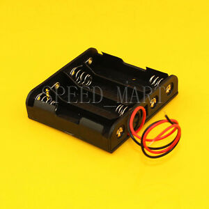 High Quality Aa 4 2a Battery Storage Clip Holder Box Case With 15cm Lead