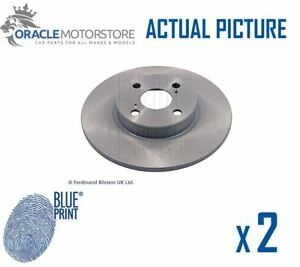 2 X New Blue Print Rear Brake Discs Set Braking Discs Pair Oe Quality Adt343123