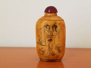 Bone Snuff Bottle Wih Pictures