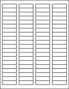 25 Sheets 2000 Blank Return Address Labels 1 75 X 5 Free Shipping